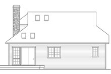 Country Exterior - Rear Elevation Plan #124-917