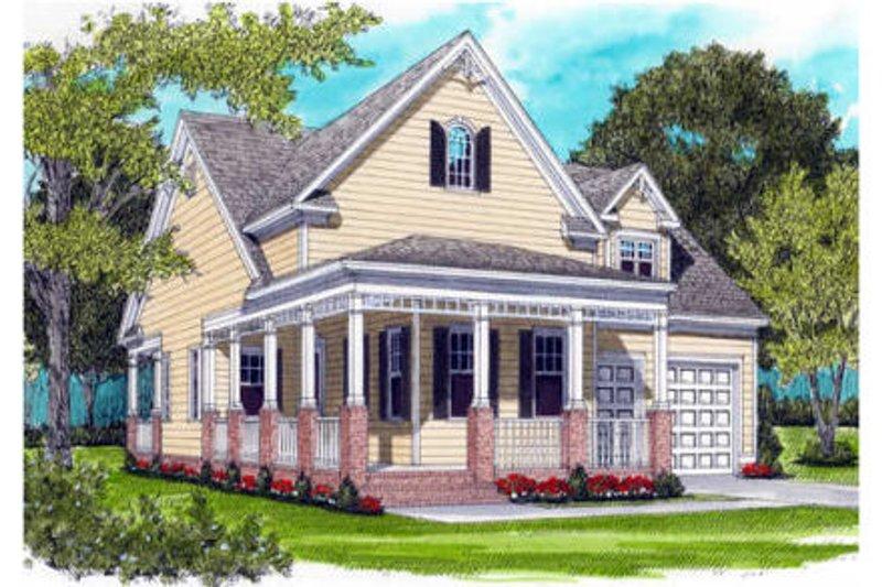 Dream House Plan - Farmhouse Exterior - Front Elevation Plan #413-785