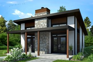 Architectural House Design - Contemporary Exterior - Front Elevation Plan #23-2605