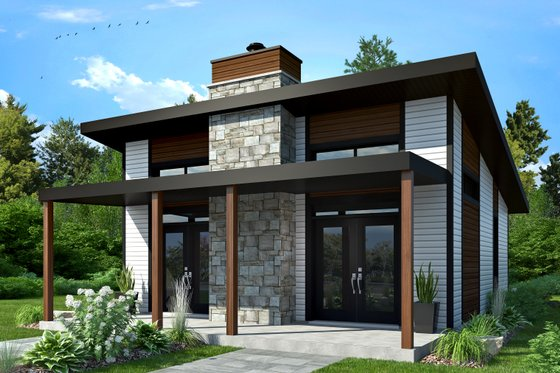 Contemporary Exterior - Front Elevation Plan #23-2605