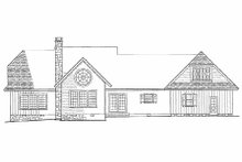 Country Exterior - Rear Elevation Plan #137-131