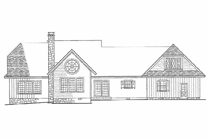 Country Exterior - Rear Elevation Plan #137-131 - Houseplans.com