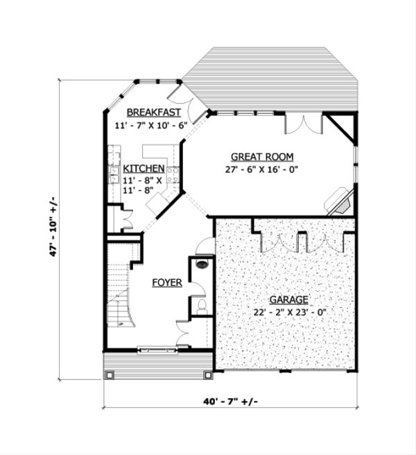 Contemporary Floor Plan - Main Floor Plan Plan #524-7