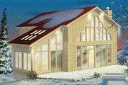 Modern Style House Plan - 2 Beds 2 Baths 1464 Sq/Ft Plan #25-2287 Exterior - Front Elevation