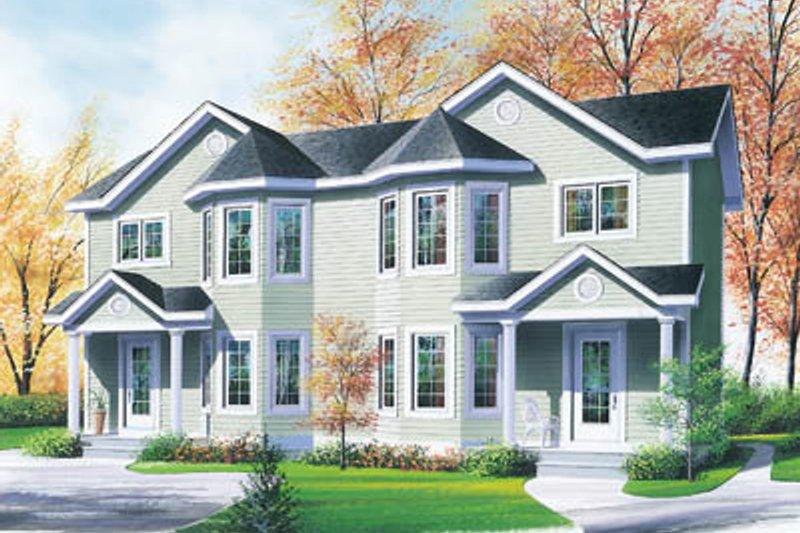 Dream House Plan - Traditional Exterior - Front Elevation Plan #23-2049