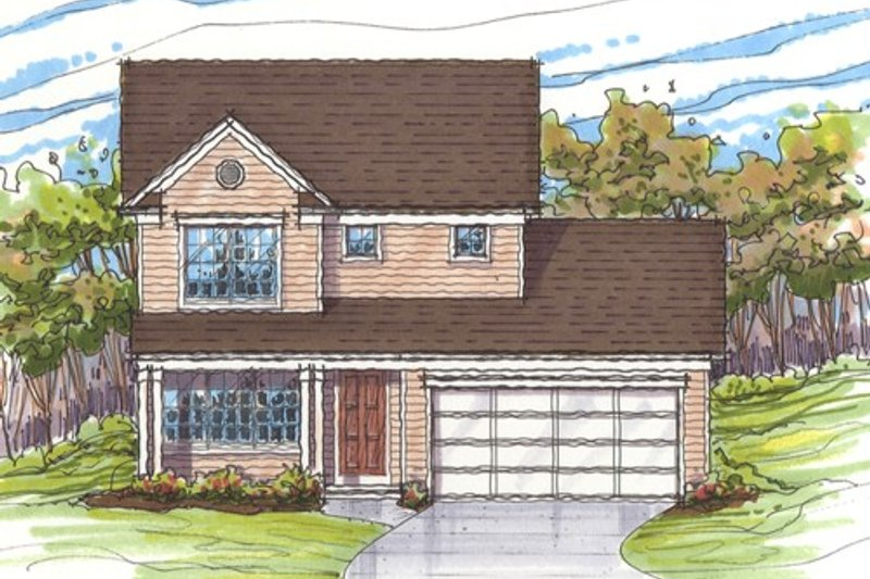 Farmhouse Style House Plan - 3 Beds 1.5 Baths 1680 Sq/Ft Plan #435-2 Exterior - Front Elevation