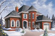 European Style House Plan - 3 Beds 2 Baths 1972 Sq/Ft Plan #23-2155 Exterior - Front Elevation