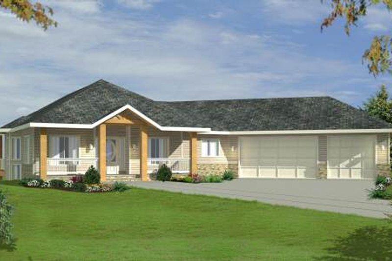 Bungalow Exterior - Front Elevation Plan #117-578 - Houseplans.com