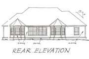 Traditional Style House Plan - 3 Beds 2 Baths 1980 Sq/Ft Plan #20-115 Exterior - Rear Elevation