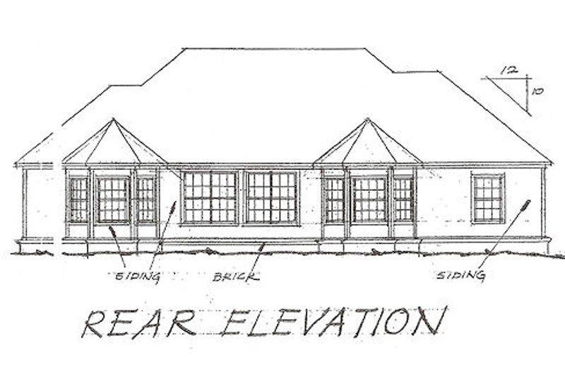 Traditional Exterior - Rear Elevation Plan #20-115 - Houseplans.com