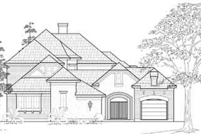 European Exterior - Front Elevation Plan #61-336 - Houseplans.com