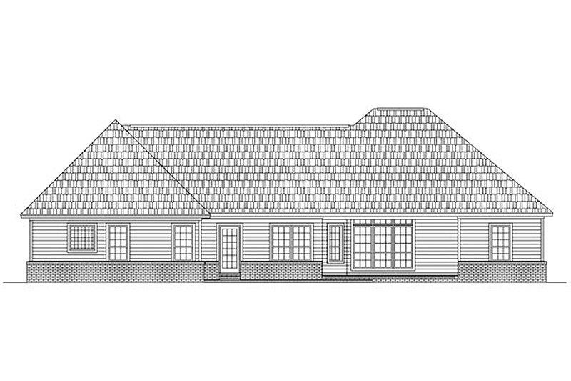 Ranch Exterior - Rear Elevation Plan #21-240 - Houseplans.com