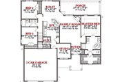 Traditional Style House Plan - 3 Beds 2 Baths 1797 Sq/Ft Plan #63-281 Floor Plan - Main Floor Plan