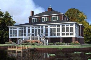 Cabin Exterior - Rear Elevation Plan #63-303