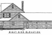 Country Style House Plan - 4 Beds 2.5 Baths 2433 Sq/Ft Plan #11-121 Exterior - Other Elevation