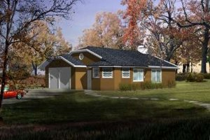 Ranch Exterior - Front Elevation Plan #1-202