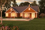 Ranch Style House Plan - 3 Beds 2 Baths 1511 Sq/Ft Plan #18-1057 Exterior - Rear Elevation