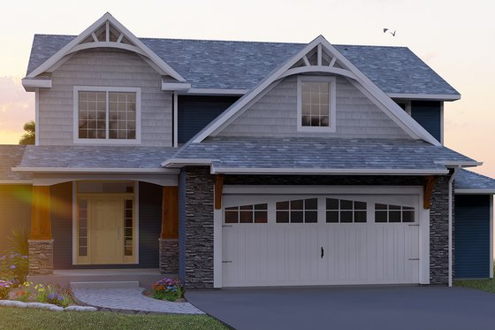 Craftsman Exterior - Front Elevation Plan #1064-11