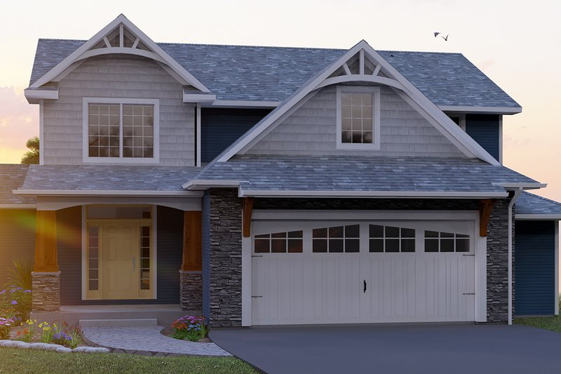Dream House Plan - Craftsman Exterior - Front Elevation Plan #1064-11
