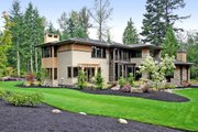 Modern Style House Plan - 4 Beds 4.5 Baths 4750 Sq/Ft Plan #132-221 Exterior - Rear Elevation