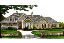 Dream House Plan - European Exterior - Front Elevation Plan #310-598