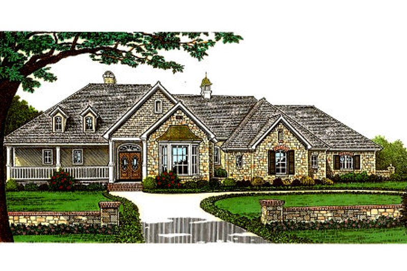 European Exterior - Front Elevation Plan #310-598