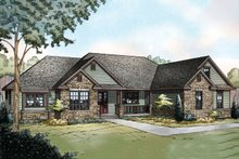 Ranch Exterior - Front Elevation Plan #124-887