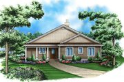 Traditional Style House Plan - 3 Beds 3.5 Baths 3091 Sq/Ft Plan #27-506 Exterior - Front Elevation