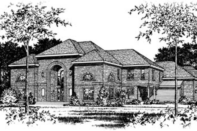Southern Style House Plan - 4 Beds 3 Baths 4357 Sq/Ft Plan #15-230 Exterior - Front Elevation