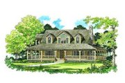 Country Style House Plan - 3 Beds 2 Baths 1715 Sq/Ft Plan #72-111 Exterior - Front Elevation