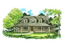 House Blueprint - Country Exterior - Front Elevation Plan #72-111