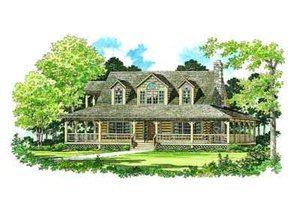 Country Exterior - Front Elevation Plan #72-111