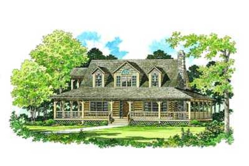 Country Exterior - Front Elevation Plan #72-111 - Houseplans.com
