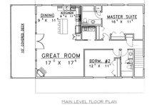 Traditional Floor Plan - Main Floor Plan Plan #117-535