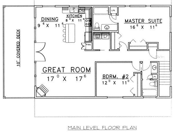Home Plan - Traditional Floor Plan - Main Floor Plan #117-535