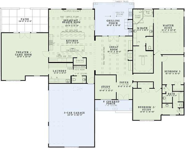 House Plan Design - European Floor Plan - Main Floor Plan #17-2532