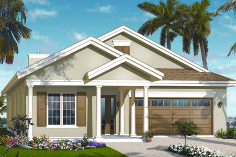Traditional Exterior - Front Elevation Plan #23-2207 - Houseplans.com