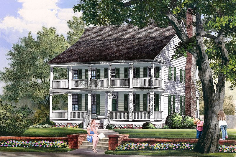 Colonial Style House Plan - 4 Beds 3.5 Baths 2774 Sq/Ft Plan #137-291