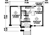 Contemporary Style House Plan - 3 Beds 1 Baths 1426 Sq/Ft Plan #25-4298 Floor Plan - Main Floor