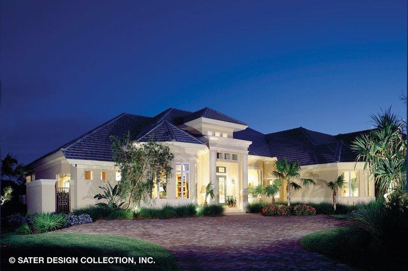 House Plan Design - Mediterranean Exterior - Front Elevation Plan #930-190