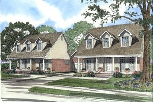 Country Exterior - Front Elevation Plan #17-2023