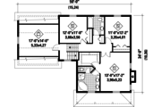 Country Style House Plan - 3 Beds 2 Baths 2216 Sq/Ft Plan #25-4468 Floor Plan - Upper Floor Plan