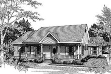 Victorian Exterior - Front Elevation Plan #14-131