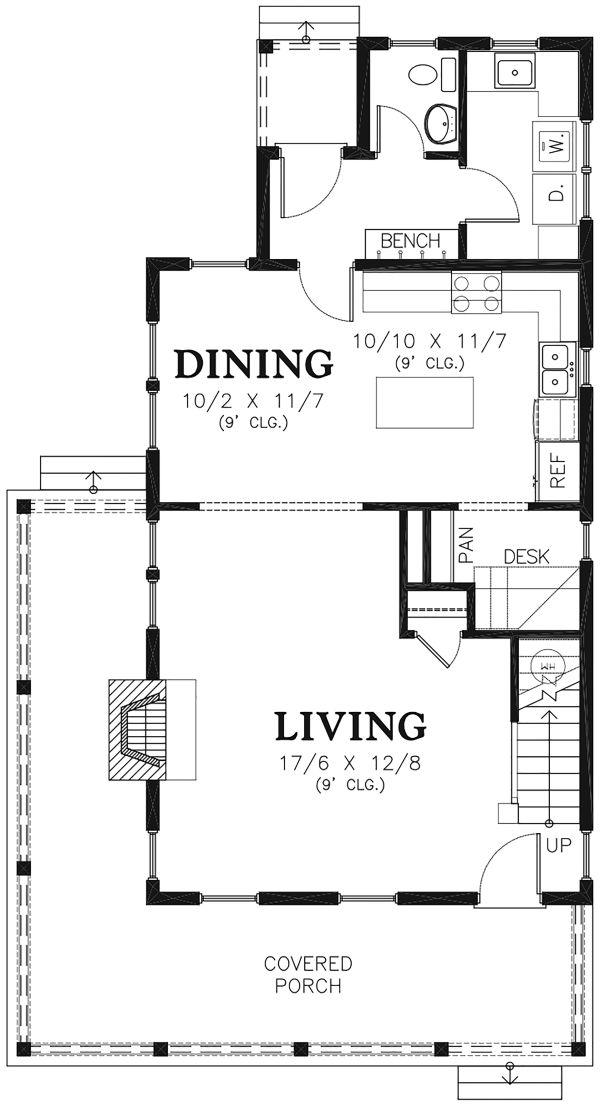 Colonial Floor Plan - Upper Floor Plan Plan #48-976