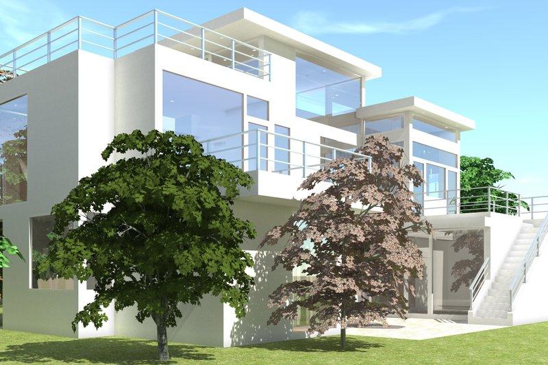 Modern Exterior - Other Elevation Plan #64-219 - Houseplans.com