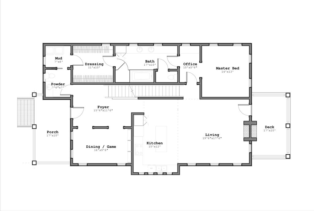 Contemporary Style House Plan - 5 Beds 3.5 Baths 3193 Sq/Ft ... on