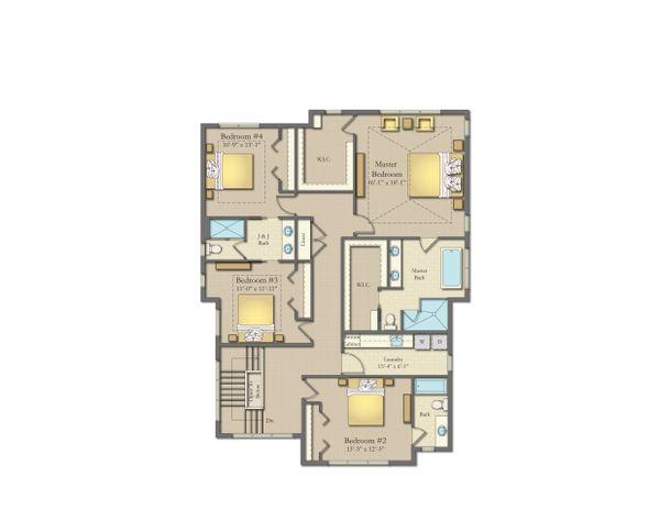 House Plan Design - Craftsman Floor Plan - Upper Floor Plan #1057-19