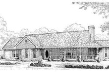 Country Exterior - Front Elevation Plan #410-178
