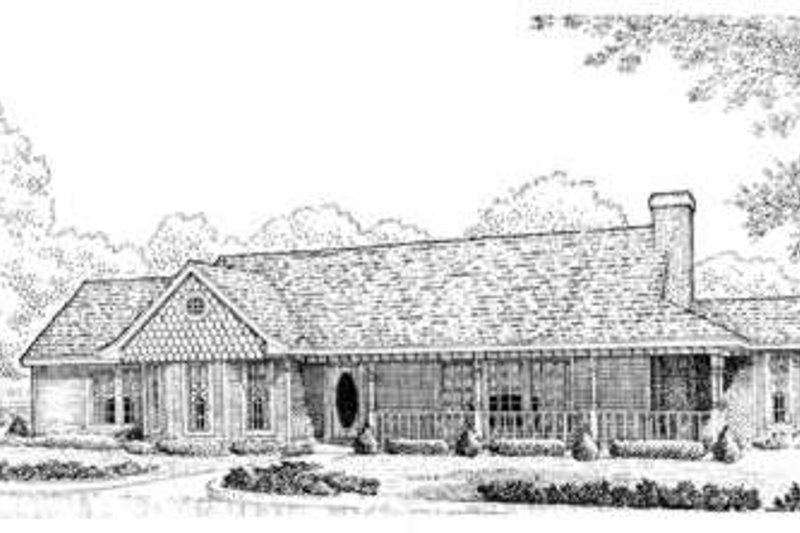Home Plan - Country Exterior - Front Elevation Plan #410-178