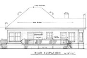 Farmhouse Style House Plan - 2 Beds 2 Baths 1270 Sq/Ft Plan #140-133 Exterior - Rear Elevation